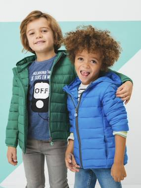 Mid season sale-Boys-Coats & Jackets-Lightweight Padded Jacket with Hood for Boys