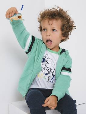 Mid season sale-Boys-Cardigans, Jumpers & Sweatshirts-Jacket with Zip, Fancy Stripes, for Boys