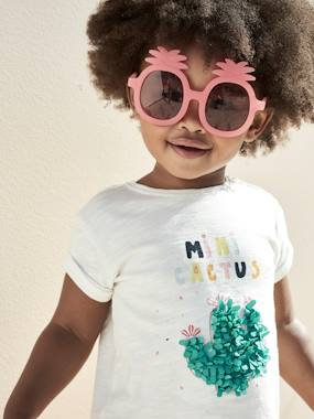 Baby-T-shirts & Roll Neck T-Shirts-Mini Cactus' T-Shirt, for Baby Girls