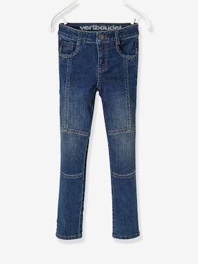The Adaptables Trousers-LARGE Fit, Boys' Slim Fit Biker-Style Jeans
