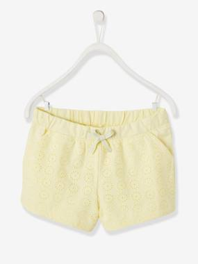 Girls-Shorts-Broderie Anglaise Shorts for Girls