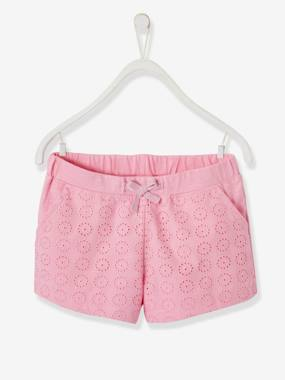 Collection Vertbaudet-Fille-Short fille avec broderie anglaise