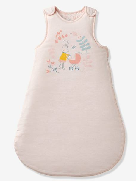 Sleeveless Reversible Baby Sleep Bag Romantique Pink Light Solid With Design Bedding Decor