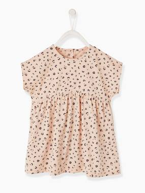 Baby-Dresses & Skirts-Leopard Print Dress for Babies