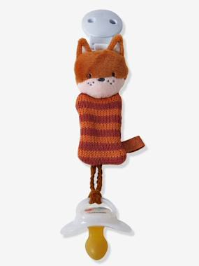 Nursery-Mealtime-Soothers & Teething Ring-Dummy Holder with Clip, Fox