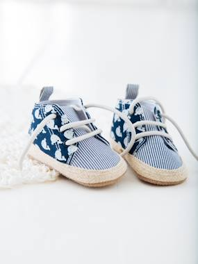 Shoes-Baby Footwear-Slippers & Booties-Lace-Up Pram Shoes for Baby Boys