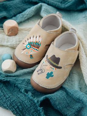 Shoes-Baby Footwear-Slippers & Booties-Soft Leather Shoes for Baby Boys