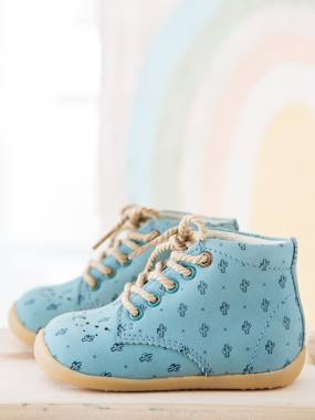 Shoes-Baby Footwear-Baby's First Steps-Leather Ankle Boots for Baby Boys, Designed for First Steps