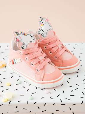 Shoes-Trainers with Unicorn-Shaped Tongue for Baby Girls