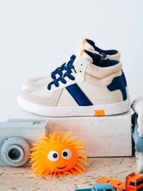 Vertbaudet Sale-Shoes-Boys Footwear-Trainers with Zip & Laces, for Boys