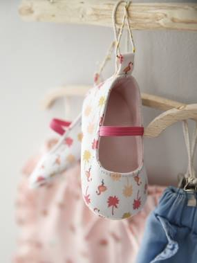 Shoes-Baby Footwear-Slippers & Booties-Ballerina Pram Shoes for Baby Girls