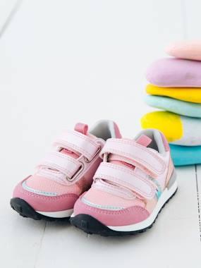 593157cef4ef7 Chaussures-Chaussures bébé 16-26-Baskets scratchées bébé fille esprit  running