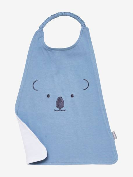 XXL Bib, Embroidered Animals BLUE MEDIUM SOLID WITH DESIGN+PINK MEDIUM SOLID WITH DESIG - vertbaudet enfant