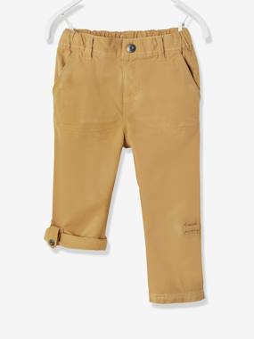 Bonnes affaires-Boys' Indestructible Cropped Trousers, Convertible into Bermuda Shorts