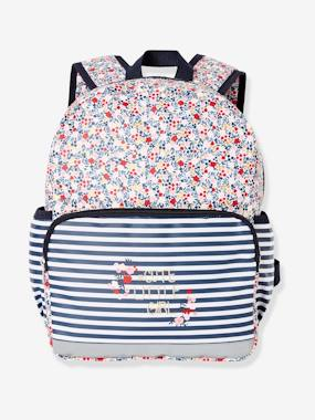 Girls-Accessories-School Supplies-Backpack with Flowers Motif for Girls