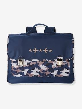 Boys-Accessories-School Supplies-Satchel with Camouflage Print, for Boys