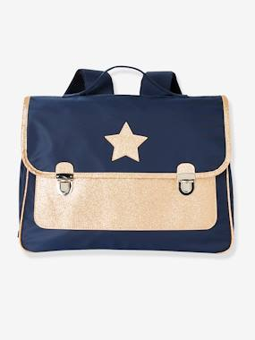 Girls-Accessories-School Supplies-Satchel for Girls with Glittery Star Motif