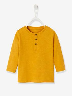 Baby-T-shirts & Roll Neck T-Shirts-Grandad-Style Long-Sleeved Top for Baby Boys