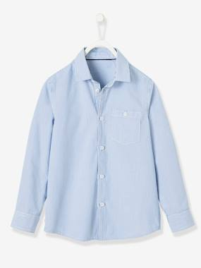 Boys-Shirts-Striped Shirt with Large Motif on the Back
