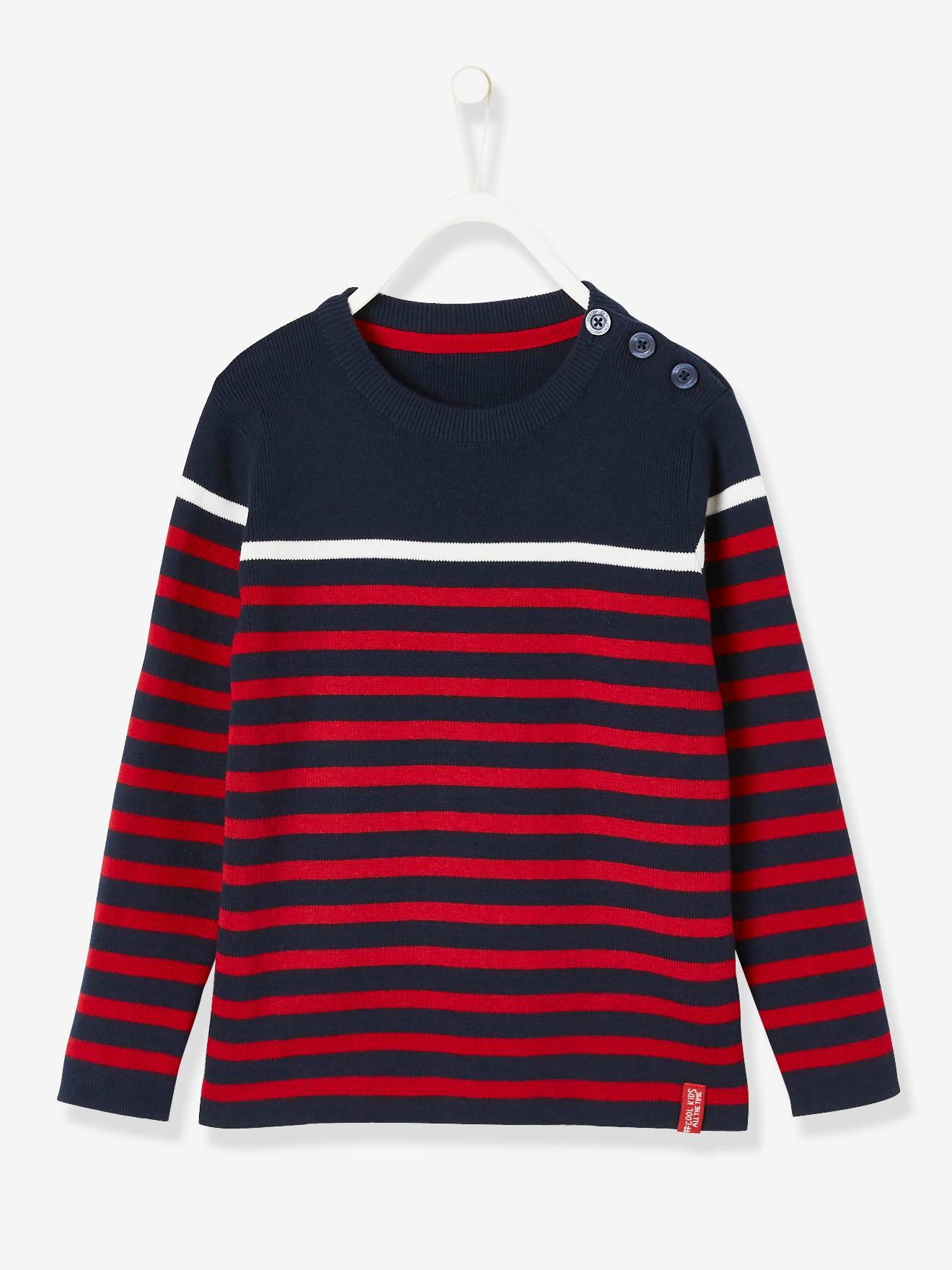 0ea17439c44 Striped Jumper for Boys - blue dark striped, Boys