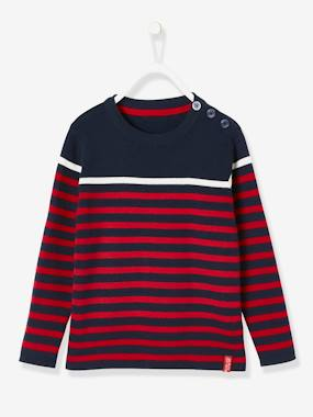 Boys-Cardigans, Jumpers & Sweatshirts-Striped Jumper for Boys