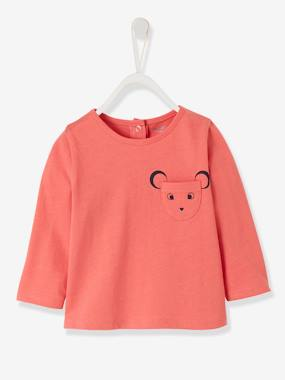 Baby-T-shirts & Roll Neck T-Shirts-Long-Sleeved Top, for Baby Girls