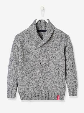 Boys-Cardigans, Jumpers & Sweatshirts-Jumpers-Jumper with Crossover Collar