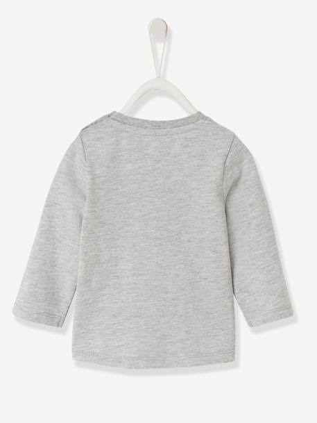 Stylish Top for Baby Boys BLUE MEDIUM SOLID WITH DESIGN+GREY LIGHT MIXED COLOR+WHITE LIGHT SOLID WITH DESIGN - vertbaudet enfant
