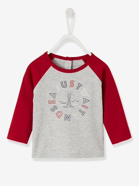 Two Tone Stylish Top For Baby Boys Grey Light Mixed Color Baby