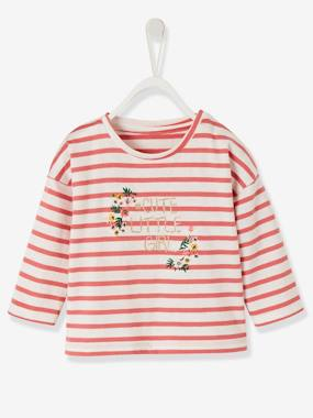 Baby-T-shirts & Roll Neck T-Shirts-T-shirts-Sailor-type Top for Baby Girls
