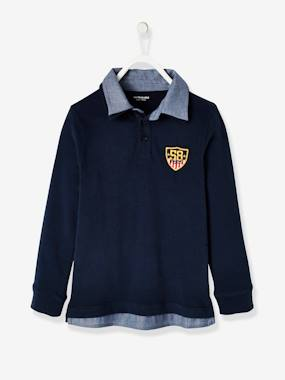 Vertbaudet Collection-Boys-2-in-1 Polo Shirt for Boys