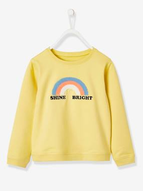 Girls-Cardigans, Jumpers & Sweatshirts-Rainbow Sweatshirt, for Girls