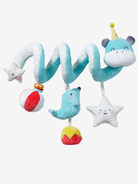 Hippopotamus Activity Spiral BLUE MEDIUM SOLID WITH DESIGN - vertbaudet enfant
