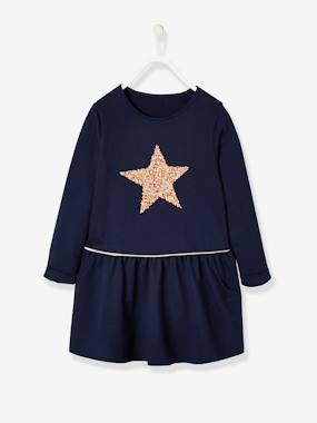 Vertbaudet Collection-Girls-Fleece Dress for Girls