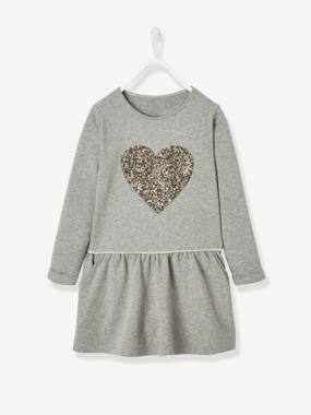 Vertbaudet Collection-Girls-Dresses-Fleece Dress for Girls