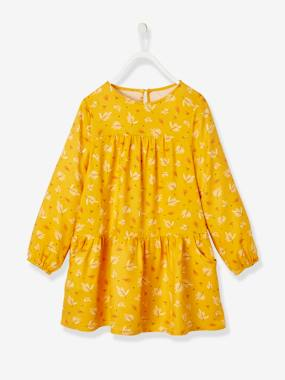 Vertbaudet Collection-Girls-Dresses-Full Circle Printed Dress for Girls