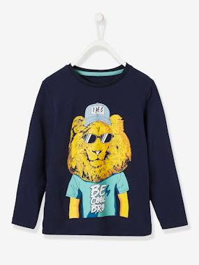 Vertbaudet Collection-Boys-Top with Animal Motif for Boys