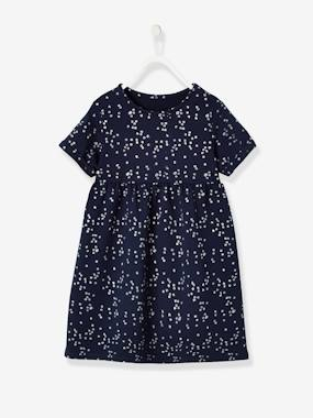 Vertbaudet Basics-Girls-Short-Sleeved Dress for Girls