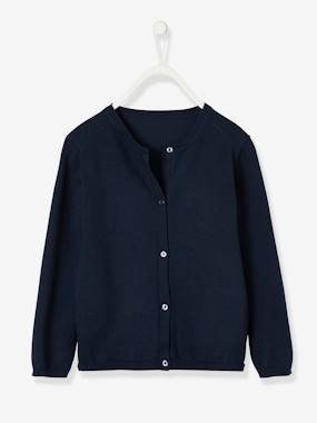 Vertbaudet Basics-Cardigan for Girls