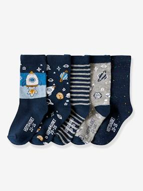 Boys-Underwear-Socks-Pack of 5 Pairs of Fancy Socks