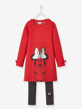 Fille-Robe-Ensemble robe + legging Disney Minnie® avec sequins réversibles