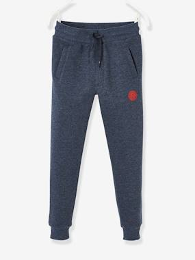 Collection Vertbaudet-Pantalon de sport garçon en molleton