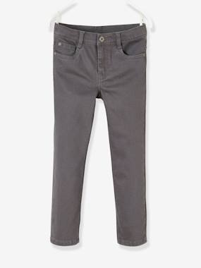 Vertbaudet Collection-Boys-NARROW Hip, Straight Leg MorphologiK Trousers for Boys