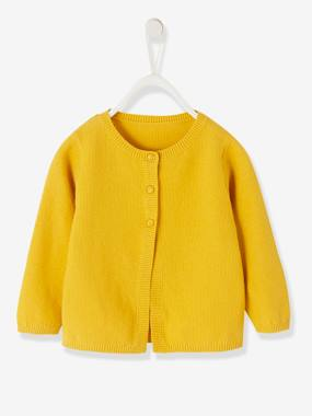 Vertbaudet Basics-Baby-Cardigan in Fancy Knit, for Baby Girls