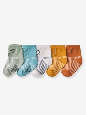 Baby-Socks & Tights-Pack of 5 Pairs of Socks for Baby Boys