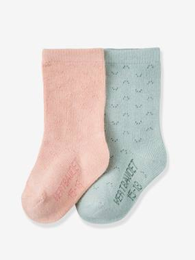 Baby-Socks & Tights-Pack of 2 Pairs of Socks for Baby Girls