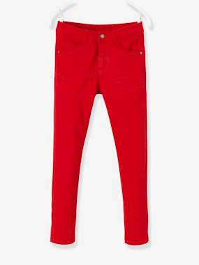 Vertbaudet Collection-Girls-Trousers-MEDIUM Hip Slim Trousers for Girls