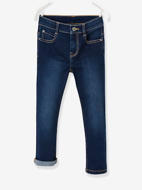 Vertbaudet Collection-Boys-NARROW Hip MorphologiK Slim Leg Jeans for Boys
