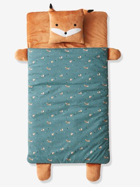 Sleeping Bag, Renard GREEN DARK ALL OVER PRINTED - vertbaudet enfant