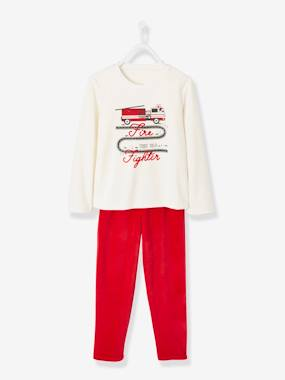 Vertbaudet Collection-Boys-Velour Pyjamas for Boys